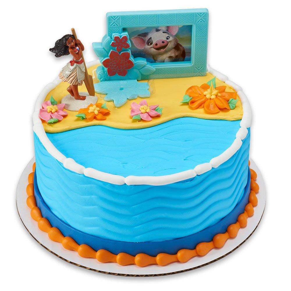 Amazoncom Moana Adventures in Oceania DecoSet Cake Topper Toys