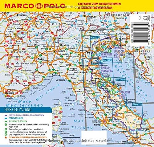 Italien Obere Adria Karte.Marco Polo Reisefuhrer Italienische Adria Reisen Mit