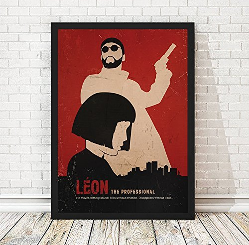Amazon Com Leon Minimalist Movie Artwork Vintage Poster Movie