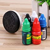 TeemorShop 10ml Flash Refill Ink for Photosensitive Seal Stamp Oil Stamping Machine DIY Office Supplies