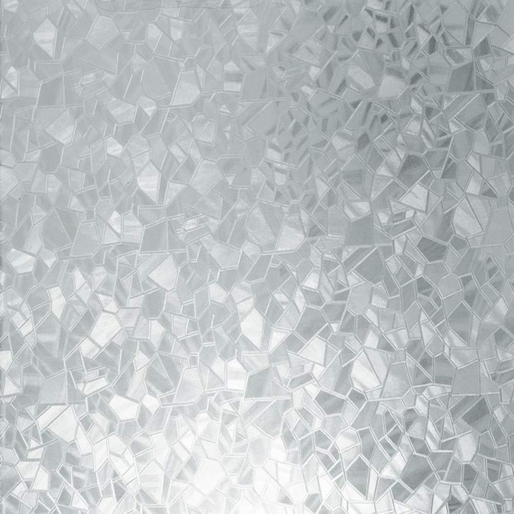 d-c-fix 346-0166-4PKA Self-Adhesive Privacy Glass Window Film, Splinter, 17'' x 78'' Roll, 4-Pack with Applicator by DC Fix
