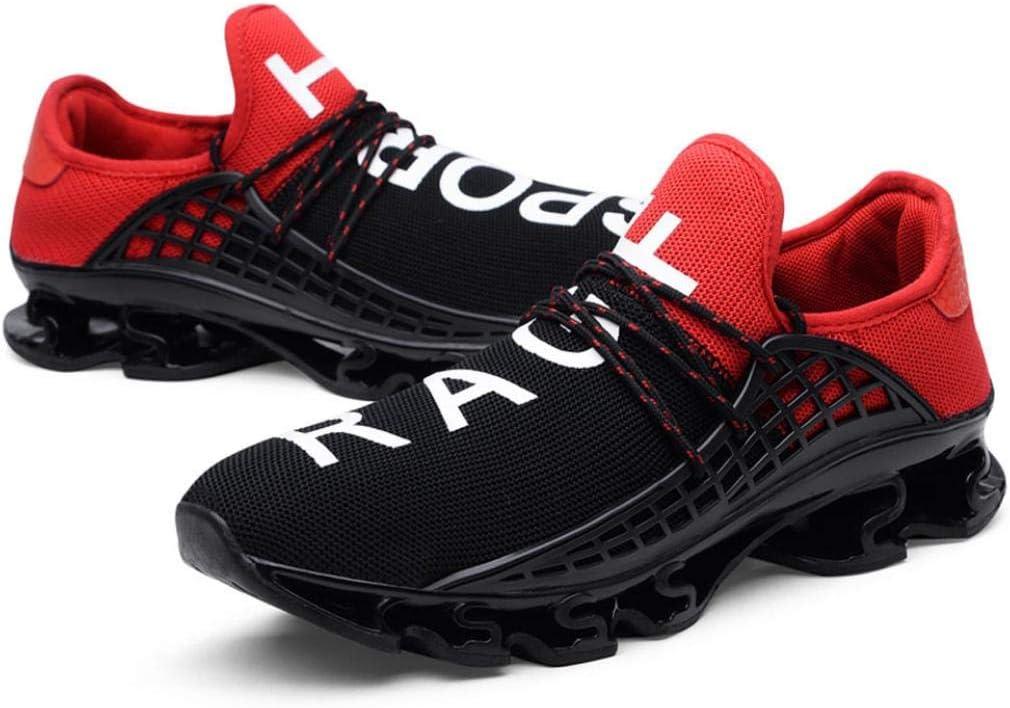WWricotta LuckyGirls Hombre Zapatillas de Correr Patchwork Elástico Casual Calzado de Deporte Planos Transpirables Zapatos con Cordones Moda Bambas de Running: Amazon.es: Deportes y aire libre