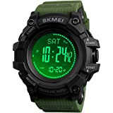 Watch Compass, Altimeter Barometer Thermometer Temperature, Pedometer Watch, Military Army Waterproof Outdoors Sport Digital Watch for Men