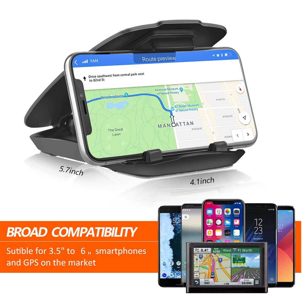 Easy Opening /& Neat Folding Android Smartphones GPS,Pmq8 Cell Phone Holder for Car Dashboard GPS Holder Mounting in Vehicle for iPhone Car Mount Dashboard Cell Phone Holder