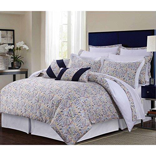 TRIBECA LIVING Fiji Cotton 12-Piece Bed in A Bag Set, California King Multicolor - Fiji Comforter