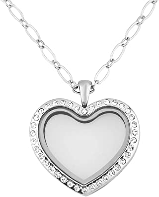 Amazon.com: shinyjewelry vidrio de memoria Living Locket ...
