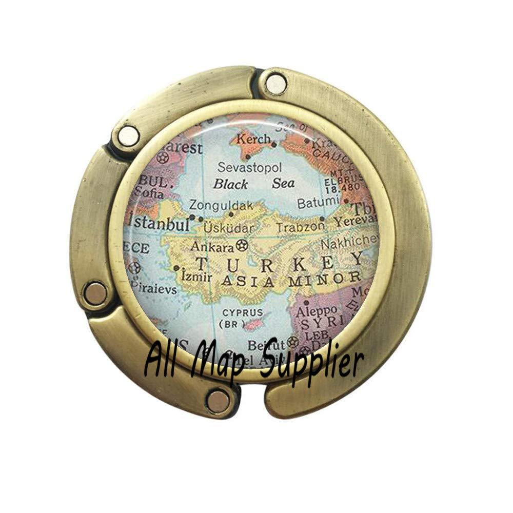 3 Charming Purse Hook,South America map Bag Hook,South America map Purse Hook,South America Bag Hook,map Jewelry,map Jewellery,A0129