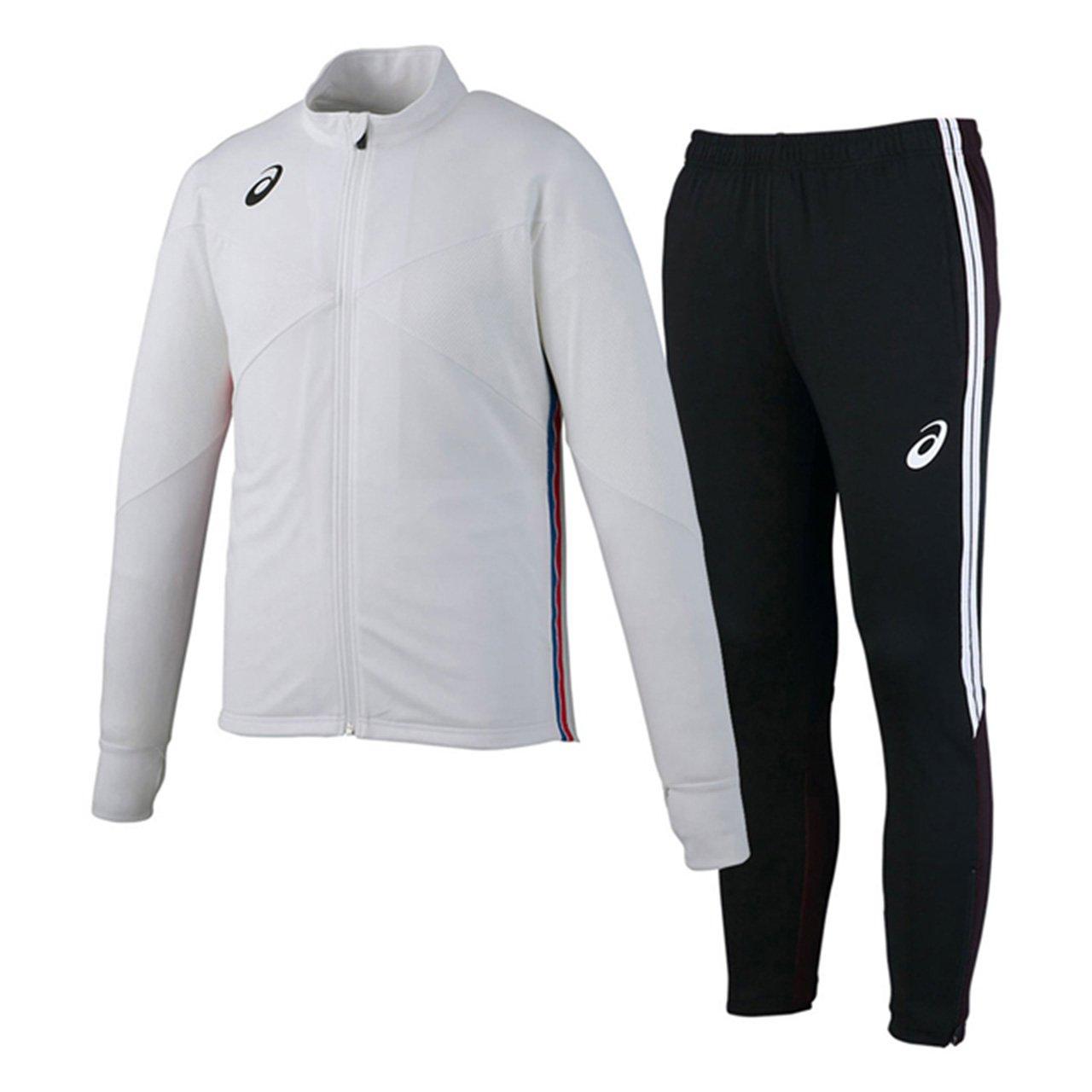 アシックス(asics) トレーニングジャケット&トレーニングパンツ 上下セット(ホワイト/ブラック) XST181-01-XST281-90 B079WV1LN4 XX-Large|ホワイト/ブラック ホワイト/ブラック XX-Large