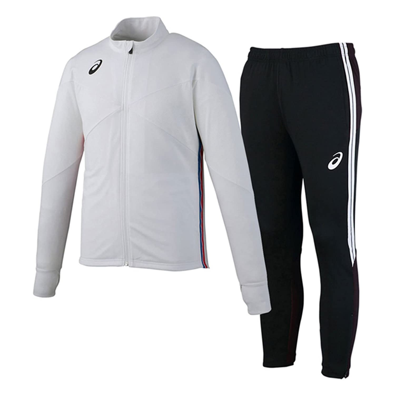 アシックス(asics) トレーニングジャケット&トレーニングパンツ 上下セット(ホワイト/ブラック) XST181-01-XST281-90 B079WWHJ4Sホワイト/ブラック XXX-Large