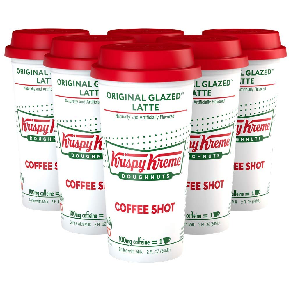 Krispy Kreme Doughnuts Coffee Original Glazed Latte Coffee Shot (Pack of 6)
