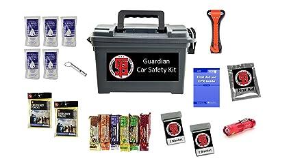 Amazon Com The Guardian Car Emergency Survival Kit Sports Outdoors