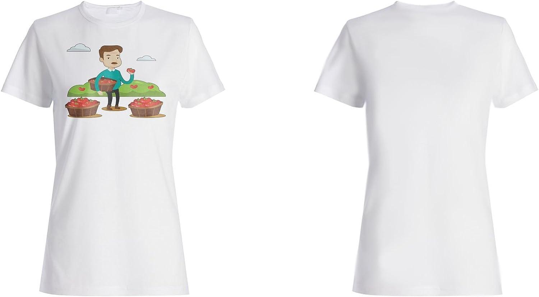 INNOGLEN Granja De Tomate Granjero Camiseta de Las Mujeres q900f: Amazon.es: Ropa y accesorios