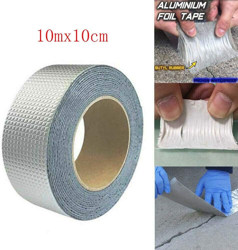 Cinta s/úper impermeable Cinta de papel de aluminio de caucho but/ílico 5mx10cm