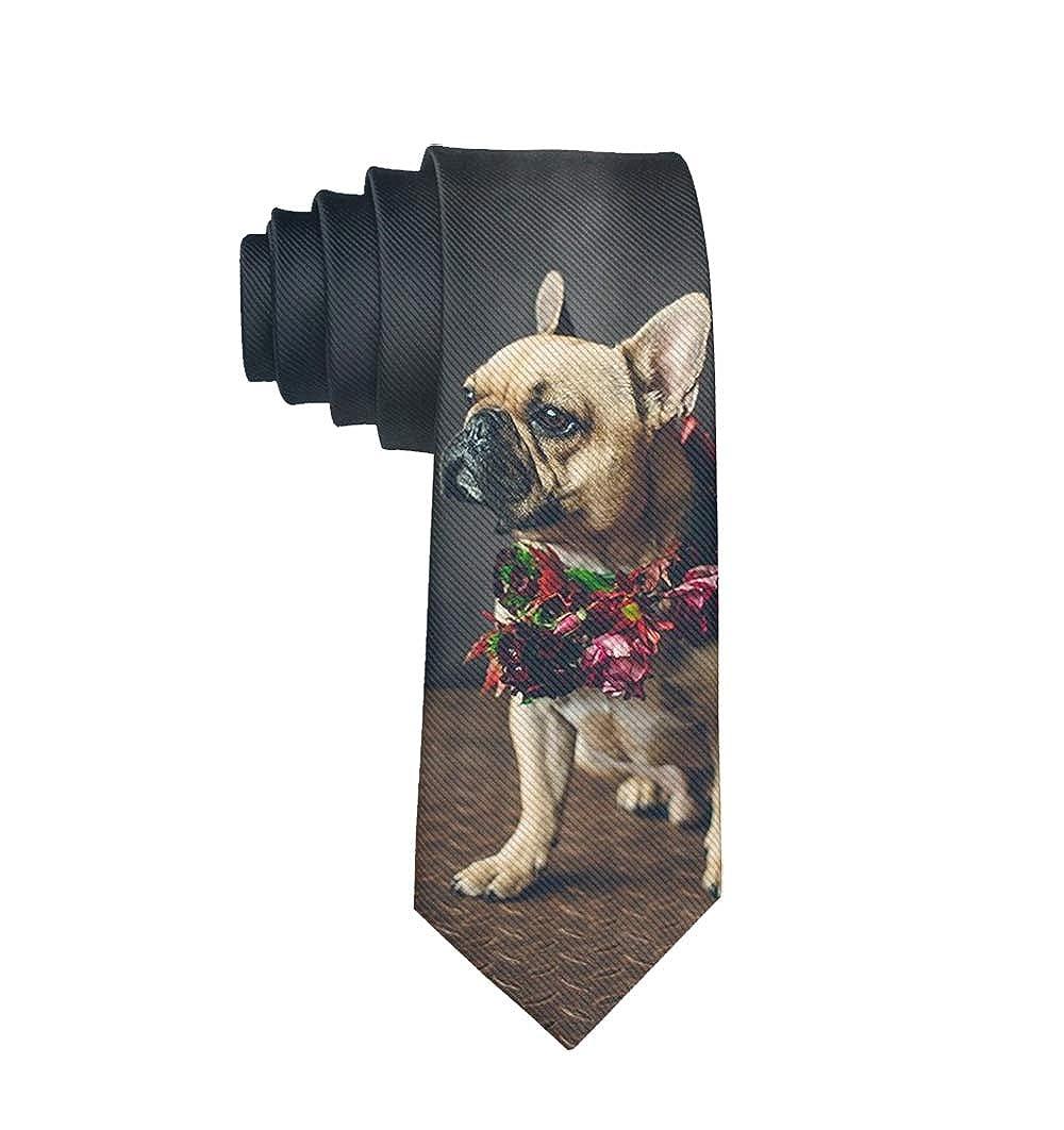 Valentines Gift Groom Groomsmen Mens Skinny Tie Print Polyester Necktie