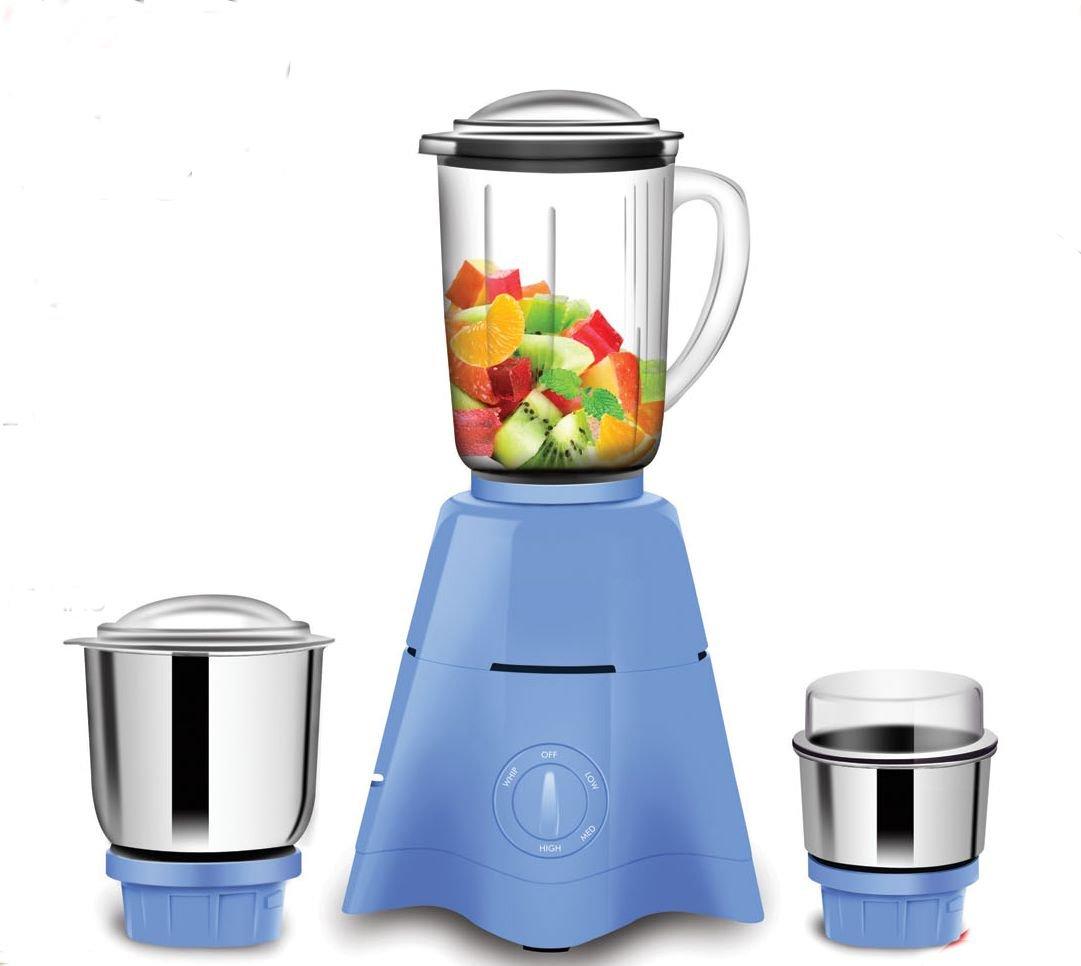 Sameer I-Flo Crest 550-Watt Mixer Grinder With 3 Jars (White)