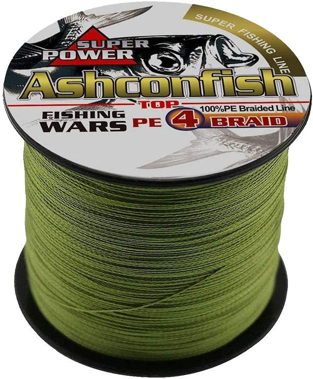 100M Fishing Line 4-Strand Gray PE Braided Strong Pulling Force Max Load 68kg