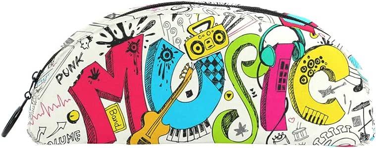 Estuche para lápices, bolígrafo de dibujo de música colorida, bolsa de papelería con cremallera, maquillaje para niños, niñas y niños: Amazon.es: Oficina y papelería