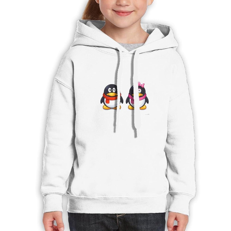 Penguins eua Teenagers penguins white hoodies 100/% cotton girl/'s fashion penguins fashion hoodie