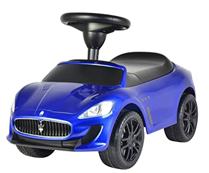 Evezo Maserati GranCabrio MC Ride On Push Car, Blue