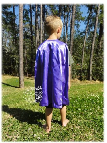 Abracadabrazoo Super Hero Superhero Satin Reversible Cape Purple Green Hulk (Spiderman Reversible Costume)