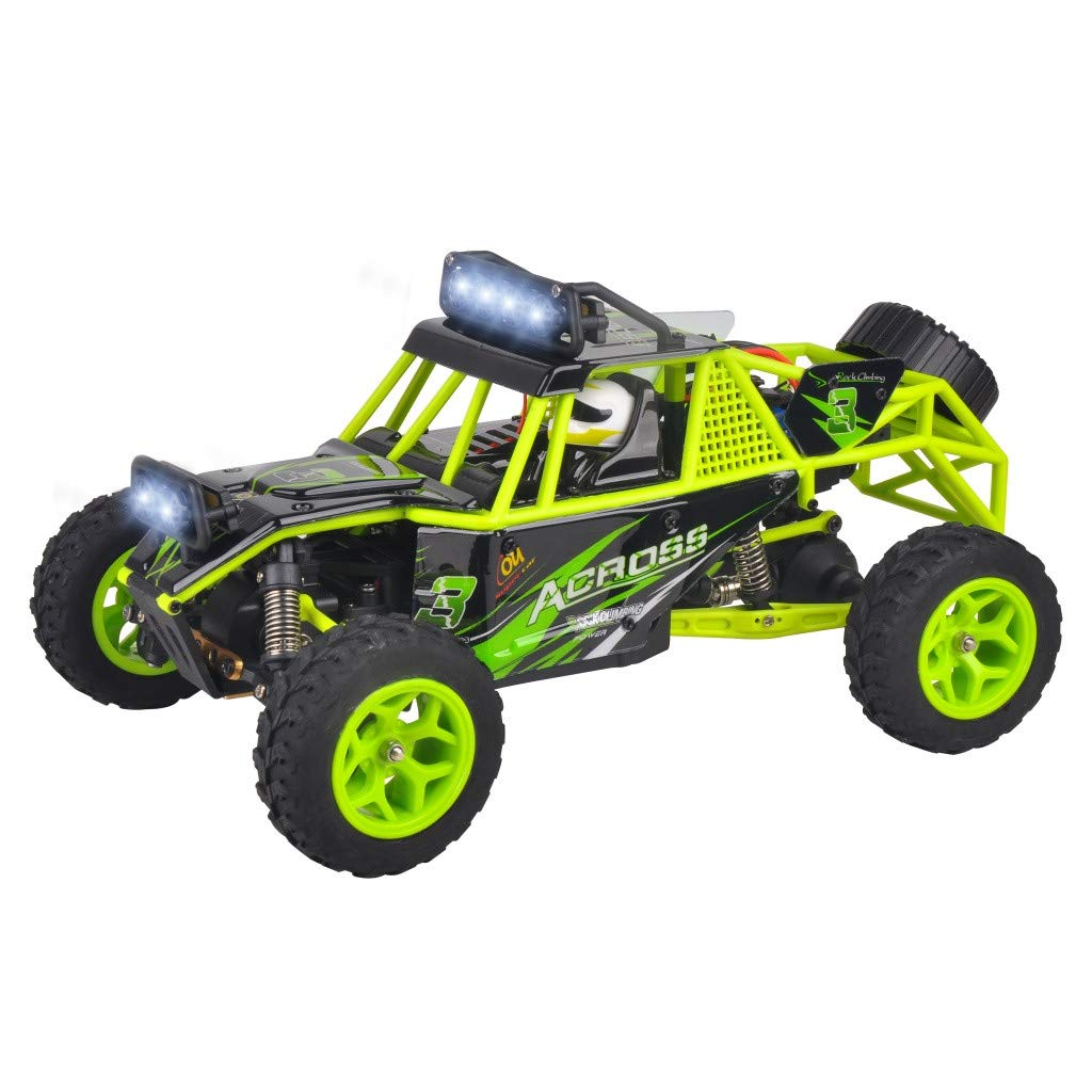 Childrens Day Upgraded 540 Brush Motor High Speed 40km/h 1:18 4D 2.4G RC Car Remote Controll Electric Mode Car Kids Gift (Green) by Aurorax Electric (Image #1)