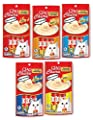 Ciao Churu Cat Treat Creamy Puree 5-Flavor Variety Pack (1 pack Chicken, 1 pack Tuna with Chicken, 1 pack Tuna, 1 pack Chicken with Scallop, 1 pack Tuna with Scallop)