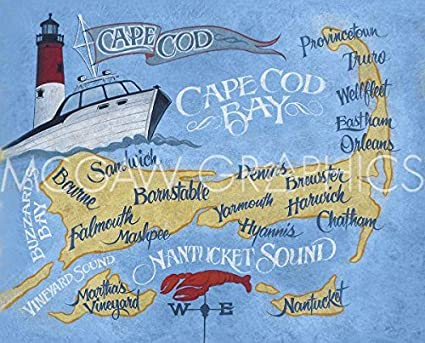 Cape Cod Beaches Map on