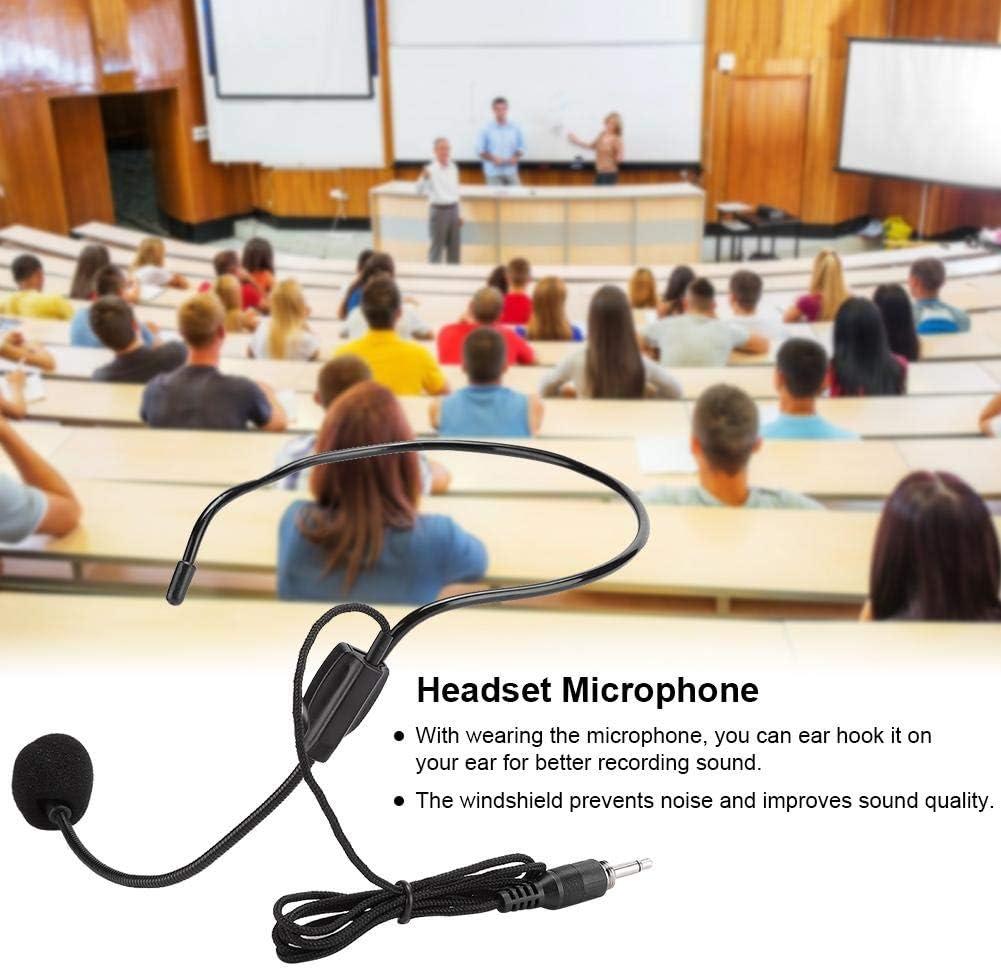 Micro-Casque Filaire pour conf/érence//enseignement//Discours Suppression du Bruit fiche /à vis de 3,5 mm 3 pi/èces syst/ème de Microphone pour Casque st/ér/éo sans Perte unidirectionnel Filaire