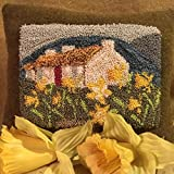 Punch Needle Embroidery DAFFODIL COTTAGE PILLOW