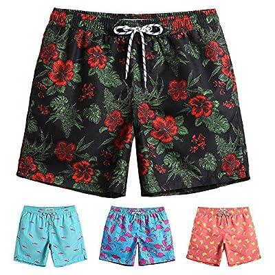 MaaMgic Mens Swim Trunks Quick Dry Beach Wear Shorts Mesh Lining Swimwear Bathing Suits