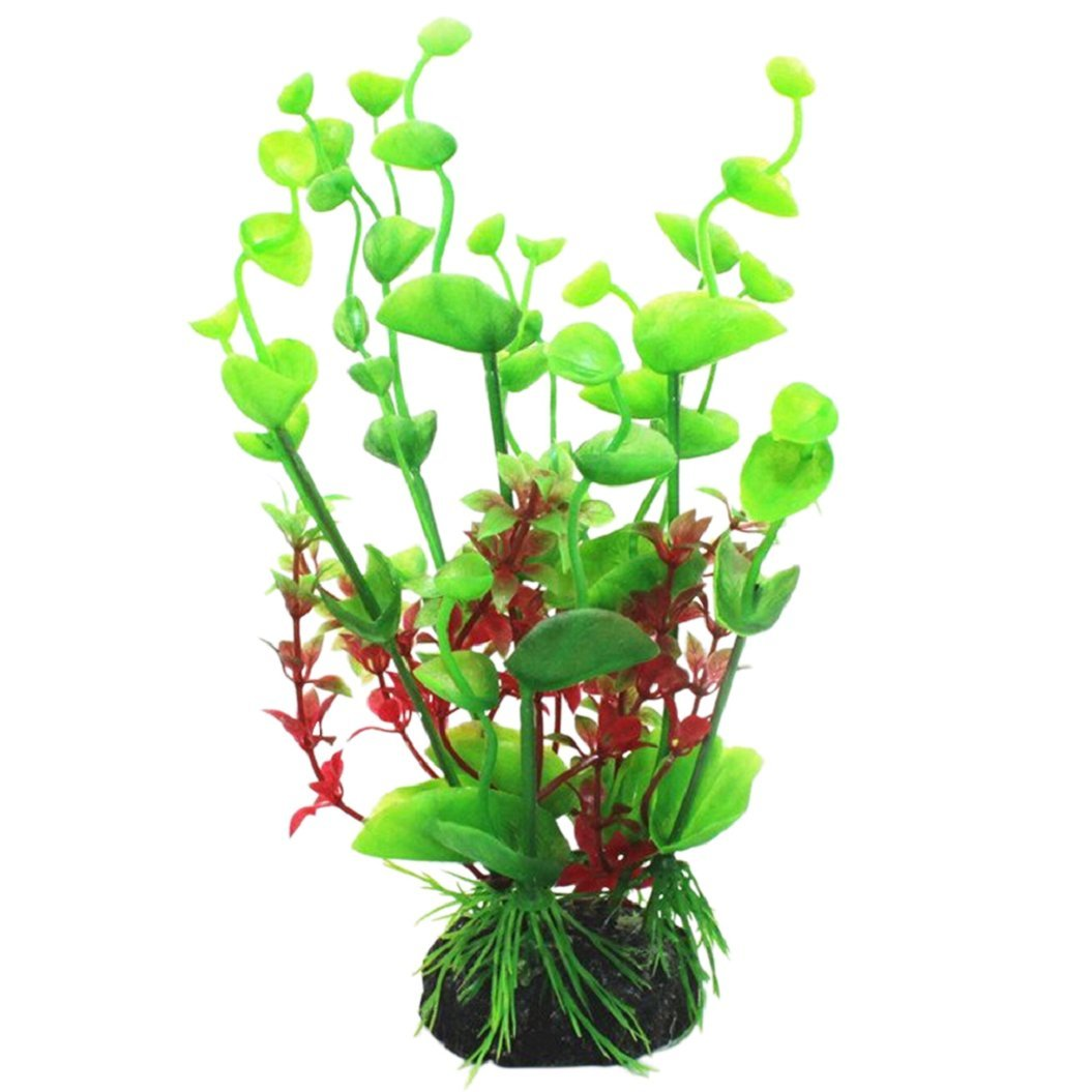 Sanwood® Plantes aquatiques artificielles en plastique de 20cm de hauteur pour décoration en plastique d'aquarium Generic