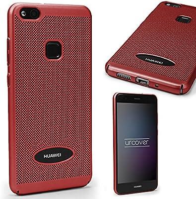 Urcover Funda Huawei P10 Lite Carcasa Ultrafina Malla Rojo Case ...
