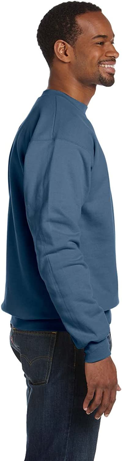 Hanes Mens ComfortBlend EcoSmart Fleece Crew (P160) Denim Blue