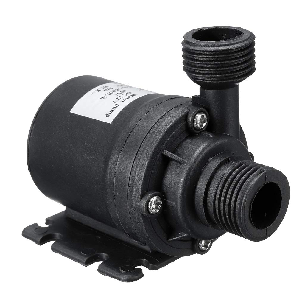 1.64 ft Power Cord Ultra Quiet Water Pump with 16.4 ft//5 metre Lift Submersible Pump 800L//H, 19W