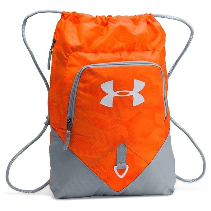 Under Armour UA Drawstring Gymsack Backpack 600 Denier Sport Bookbag Gear  Tote (Team Orange Stealth Grey)  Amazon.ca  Clothing   Accessories f5f56ee927