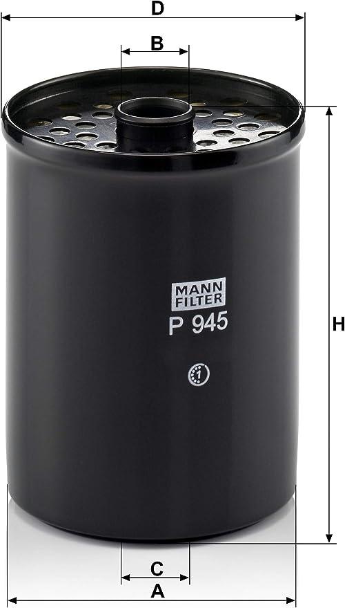 Original Mann Filter Kraftstofffilter P 945 X Kraftstofffilter Satz Mit Dichtung Dichtungssatz Für Nutzfahrzeug Auto