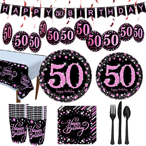 50th birthday decorations pink and black buyer's guide