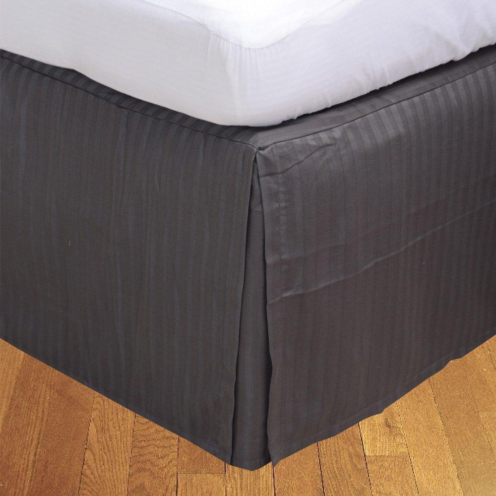 Sage A/_Rayures,UK Small Seule Longue BudgetLinen 1pcs Box Jupe pliss/ée de lit 100/% Coton-dEgypte Qualit/é Premium 400 Nombre de Fil 2 Pieds 6 x 6 pi 6 , Drop Length 40cm