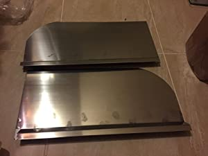 """A Set of Deep Fryer Splash Guard New 1"""" Insert Channel (Left and Right)"""