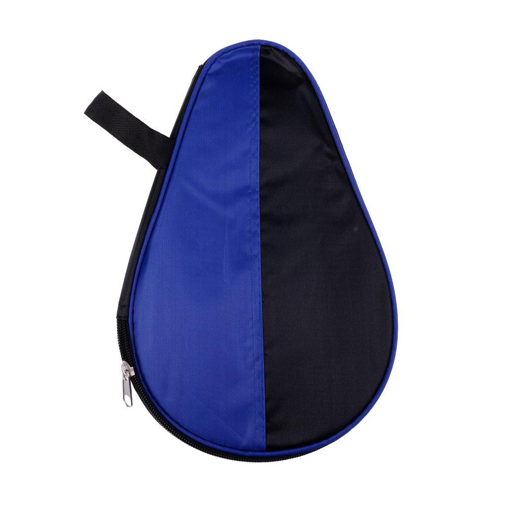 Magideal Borsa Sacchetto Case per Racchetta Da Tavolo Tennis Portatile con Chiusura Lampo Ping Pong Paddle Pipistrello Protezione Caso Custodia