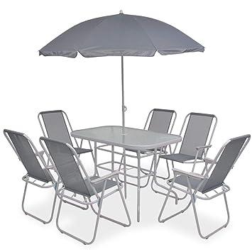De 8 Table6 Tidyard Et Chaise Mobilier Jardin Avec Empilable 1 Pcs PTlOZukiwX