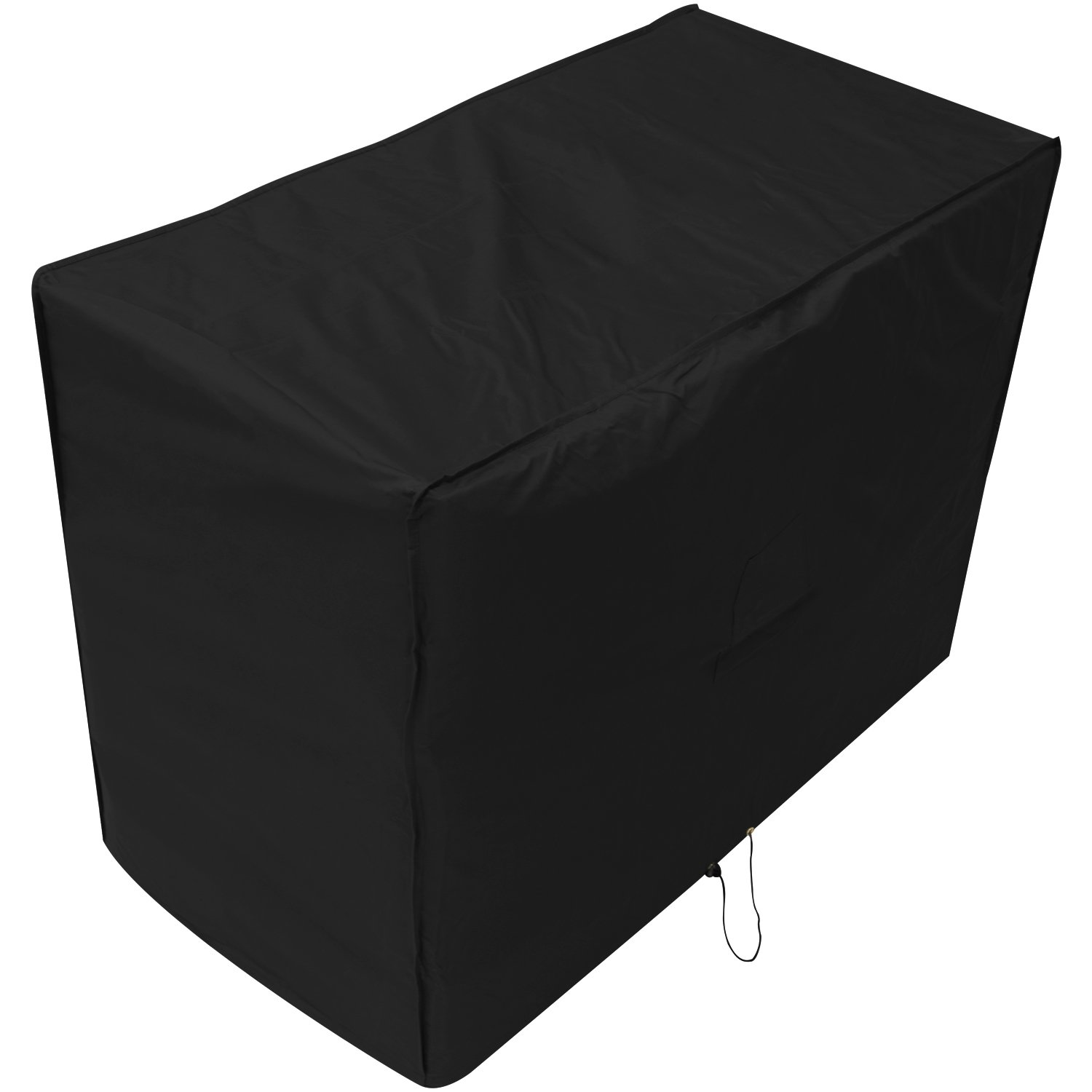 Black 3 Seater Outdoor Garden Patio Bench Cover 0.9m x 1.6m x 0.68m/3ft x 5.2ft x 2.2ft 5 YEAR GUARANTEE Woodside
