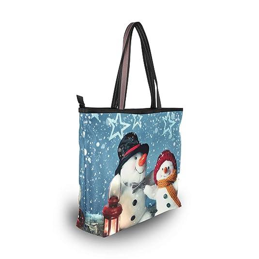 Amazon.com: Bolso de invierno para mujer, diseño de muñeco ...