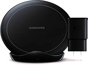 Samsung Wireless Charger Stand with Fan Cooling, EP-N5105TBEGGB - Black (Renewed)