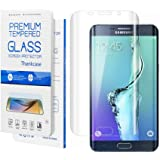 Galaxy S7 Screen Protector,Galaxy S7 Screen Protector Tempered Glass,Thinkcase Galaxy S7 Screen Protector Full Coverage [Curved Crystal] PET Film, Ultra HD /Definition Invisible