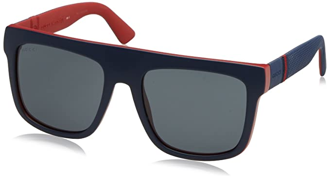 60383f7394a Image Unavailable. Image not available for. Color  Sunglasses Gucci 1116 S  0M1S Blue   BN ...