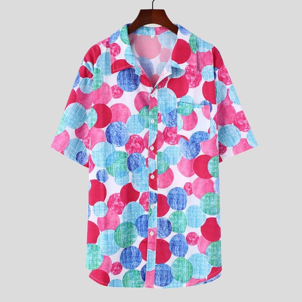 Tongshi Camisa De Hombre Camisa De Manga Corta con ...