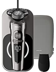 Philips Wet & Dry Electric Shaver 9000 Prestige with 3 modes, Qi charging pad, SP9860/13