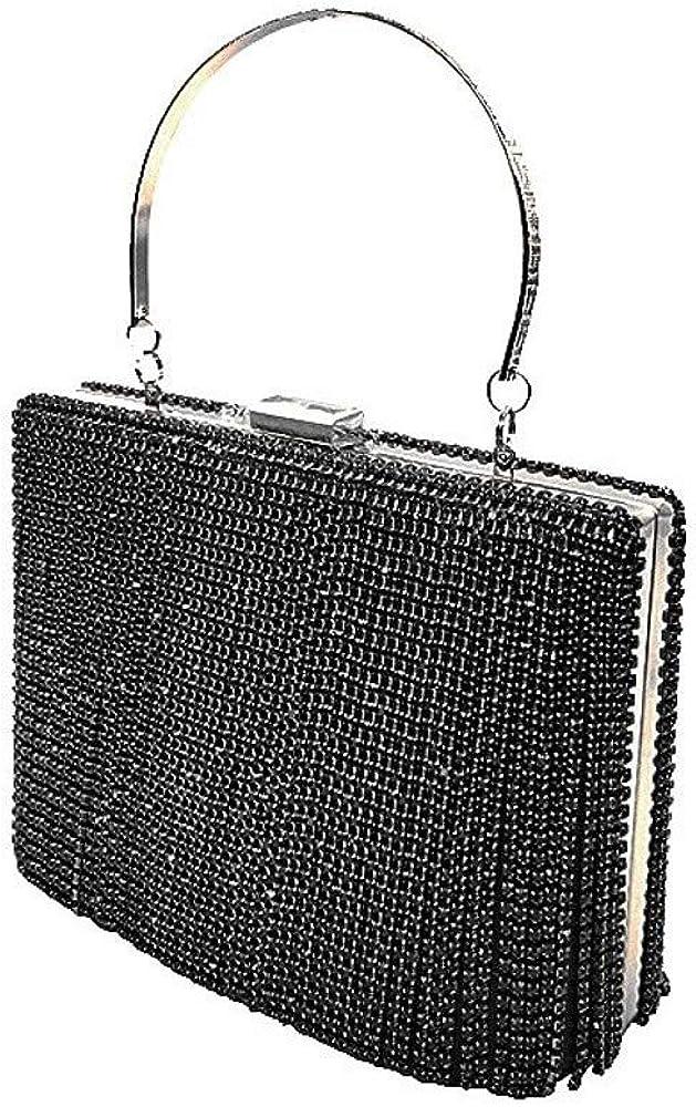 Rhinestone Evening Bag Clutch Purses for Women Cocktail Party Wedding Glitter Handbag Clutches