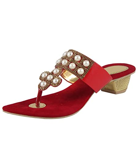 319ddf9beb1 CUTE FASHION Women s Red Fashion Sandals - 8 UK  Buy Online at Low ...